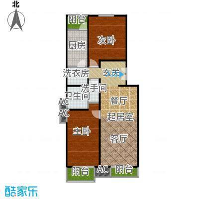 良工佳苑98.12㎡两室两厅一卫户型