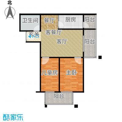 永翌公馆12楼J户型2室1厅1卫1厨