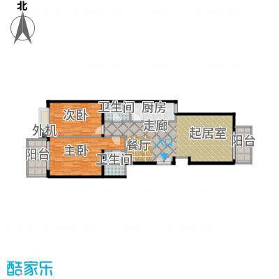 天创公馆A-5户型二室二厅二卫户型