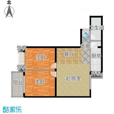 天创公馆106.25㎡B-3户型二室二厅一卫户型