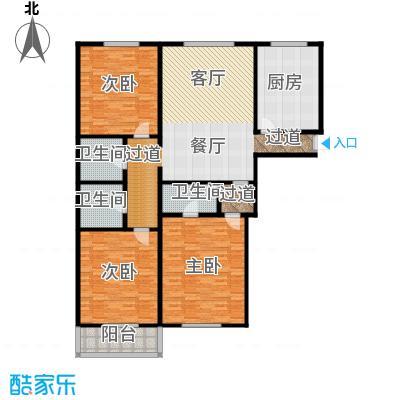 万事吉公寓161.89㎡3室1厅1卫1厨户型
