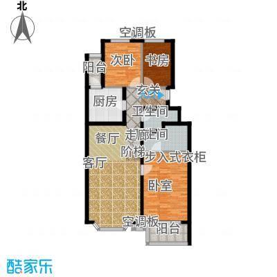香湾(晶城秀府)E2户型三室二厅二卫(二期)户型