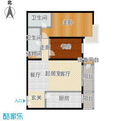 甲方乙方(日月天地)142.37㎡两室两厅两卫户型