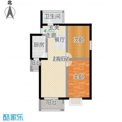 南曦大厦89.89㎡2室2厅1卫1厨户型