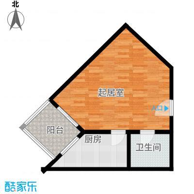 新城市经典45.10㎡大一居室户型