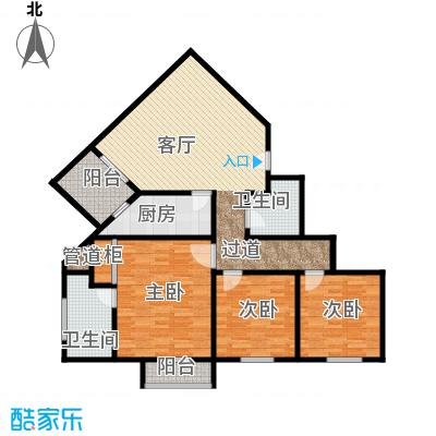 新城市经典118.10㎡三室一厅两卫户型