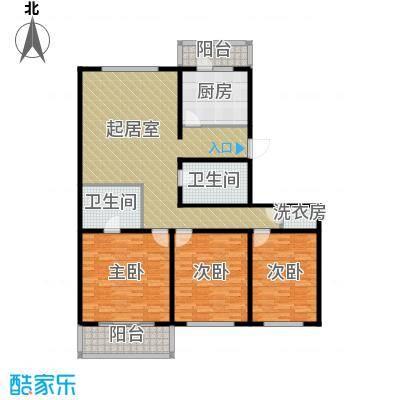 万事吉公寓139.19㎡3室1厅1卫1厨户型