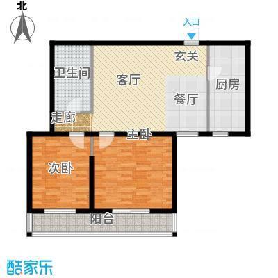 竹天下(未来假日花园二期)99.16㎡2室1厅1卫1厨户型