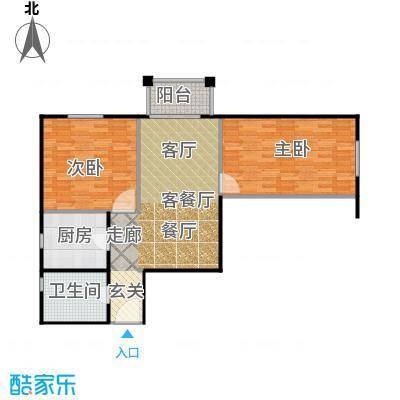 永翌公馆93.00㎡12号楼10户型2室1厅1卫1厨
