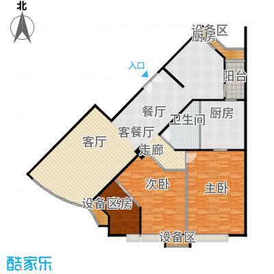 中海凯旋154.43㎡三室二厅二卫户型