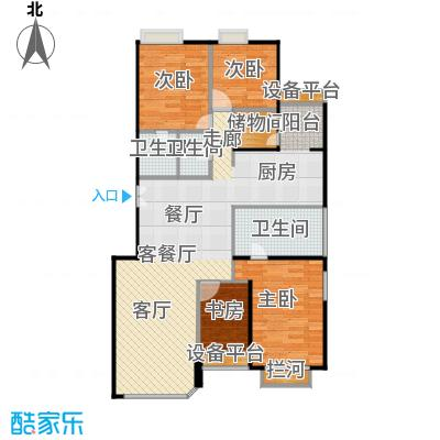 中海凯旋222.60㎡四室二厅三卫户型