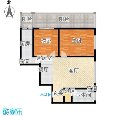 国电中兴嘉园115.60㎡二室二厅单卫户型