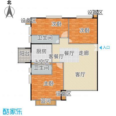 中海凯旋178.51㎡三室二厅二卫户型