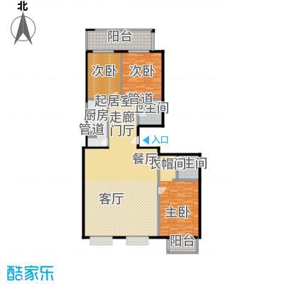 国电中兴嘉园195.10㎡三室两厅两卫户型