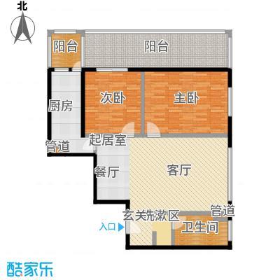 国电中兴嘉园115.60㎡两室两厅一卫户型