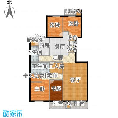 五栋大楼212.27㎡四室二厅二卫户型