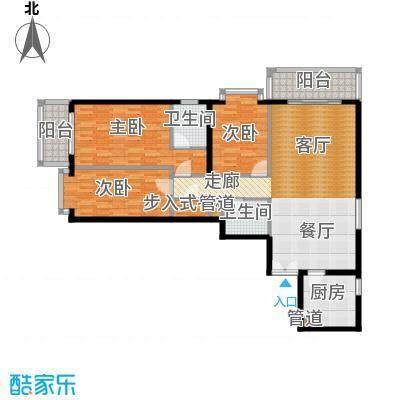 五栋大楼145.04㎡三室二厅二卫户型