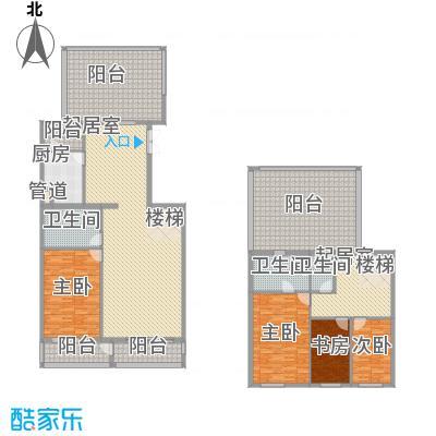 五栋大楼235.63㎡四室二厅三卫户型