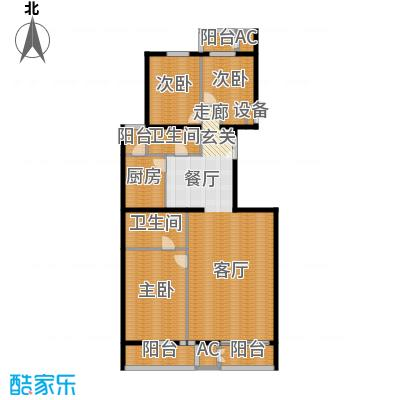五栋大楼172.34㎡三室二厅二卫户型