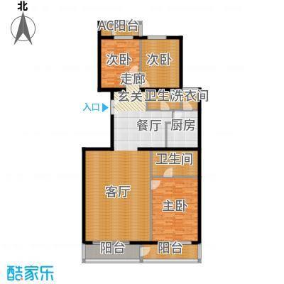 五栋大楼176.02㎡三室二厅二卫户型