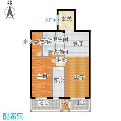 五栋大楼112.91㎡一室二厅一卫户型