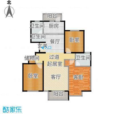 期颐百年146.50㎡15号楼1单元02三室户型10室