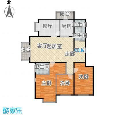 期颐百年B户型3室2卫1厨