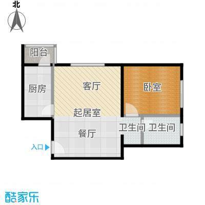 期颐百年68.84㎡20号楼1单元01一室户型10室