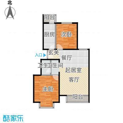 期颐百年92.11㎡20号楼2单元01二室户型2室1卫1厨