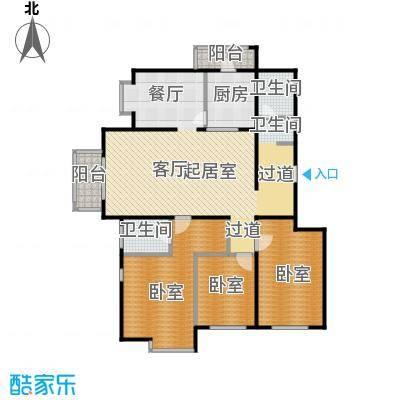 期颐百年150.12㎡17号楼2单元02三室户型10室