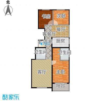 建邦枫景116.00㎡C2户型3室1厅2卫1厨