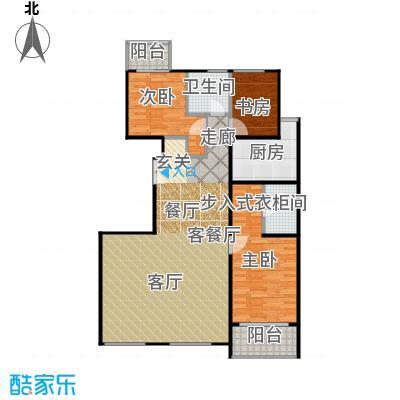 建邦枫景C1户型3室1厅2卫1厨