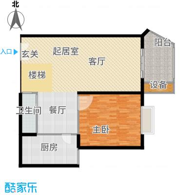 未来明珠114.50㎡两室两厅两卫户型