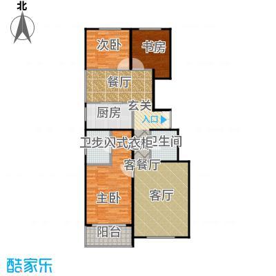 建邦枫景C2反户型3室1厅2卫1厨