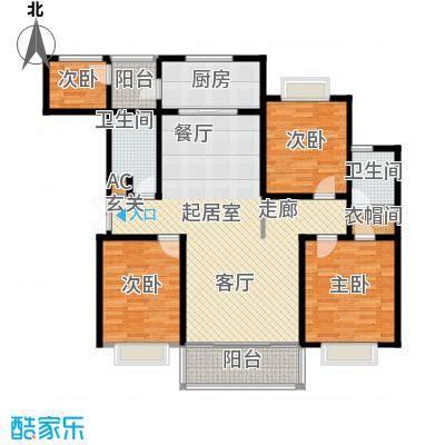 联邦・御景江山户型4室2卫1厨