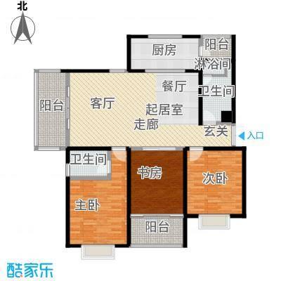联邦・御景江山户型3室2卫1厨