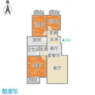 万科中粮紫苑户型3室1厅1卫1厨