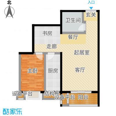 风景Club82.40㎡15号楼G-4户型一室二厅一卫户型