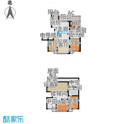 万科紫台201.64㎡D户型三室三厅二卫户型