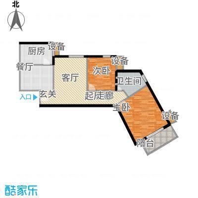 玉泉小区二期(秀蝶・双座)87.33㎡03、08户型-二室二厅一卫户型