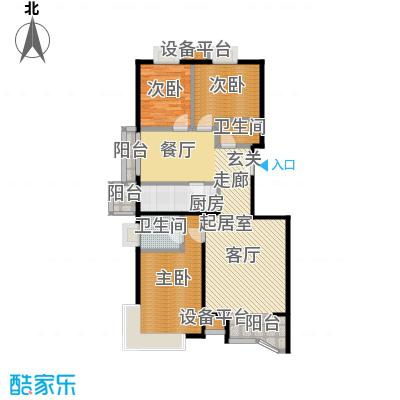 风景Club144.83㎡16号楼A-1户型三室二厅一厨二卫户型
