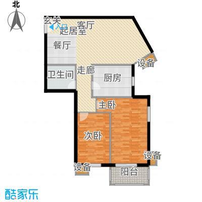 玉泉小区二期(秀蝶・双座)99.66㎡04、07户型-二室二厅一卫户型