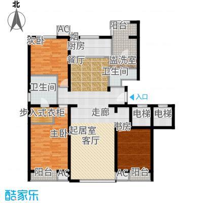 万科紫台175.10㎡B2户型三室二厅二卫户型