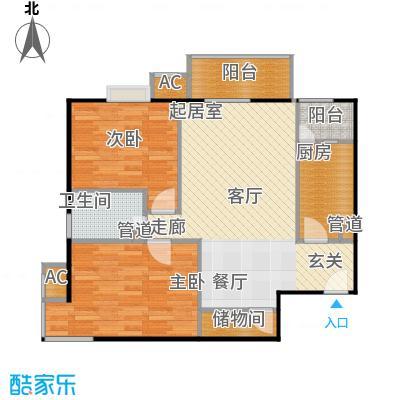中景理想家86.66㎡C4两室两厅一卫户型