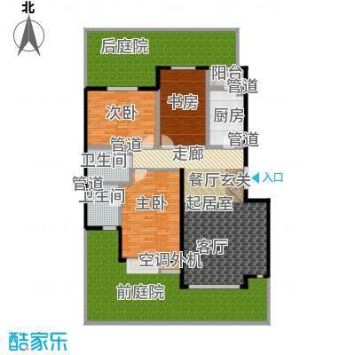 亿城天筑119.00㎡G1户型三室二厅二卫户型