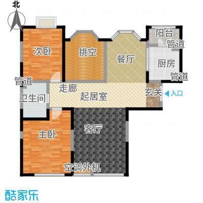 亿城天筑101.00㎡K3,K5,K7户型二室二厅一卫户型