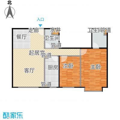 蓝筹名座111.47㎡2室2厅2卫1厨户型