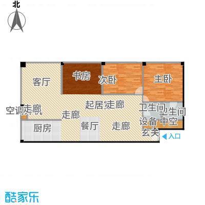 SOHO现代城三室二厅二卫户型