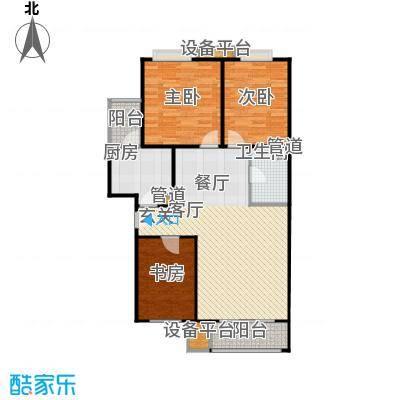翠海明筑三室两厅一卫  户型