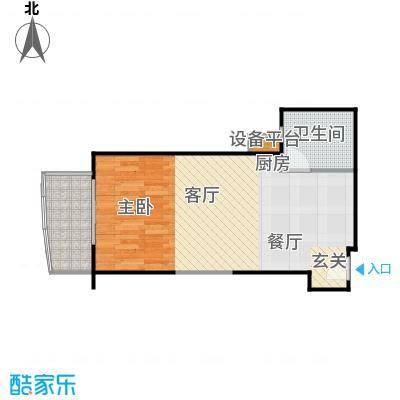 远中悦麒会馆62.85㎡A5户型一居室户型
